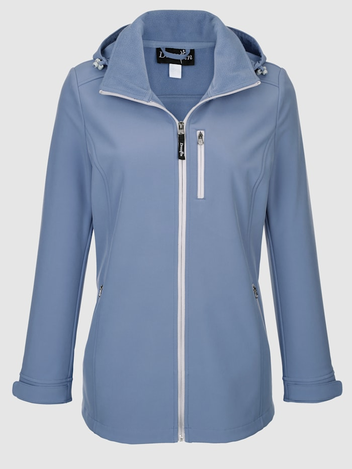 Dress In Jacket with a detachable hood, Blue