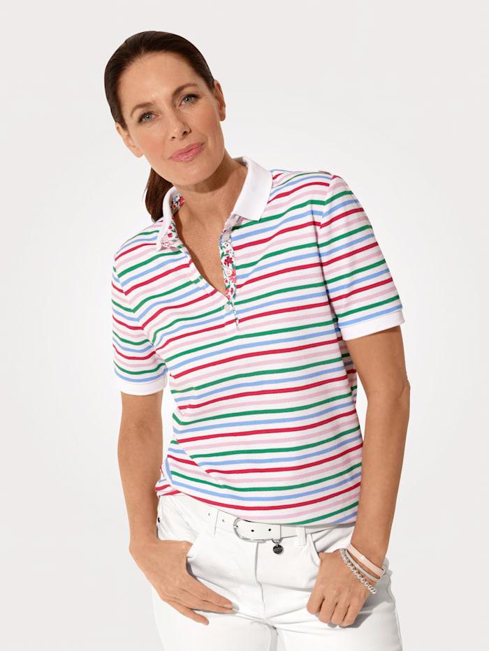 MONA Poloshirt van comfortabel piquémateriaal, Pink/Groen/Lichtblauw/Fuchsia