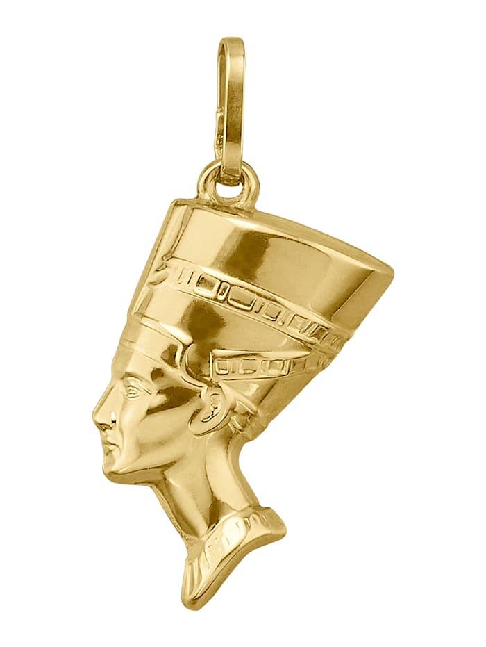 Amara Highlights Pendentif Néfertiti, Coloris or jaune
