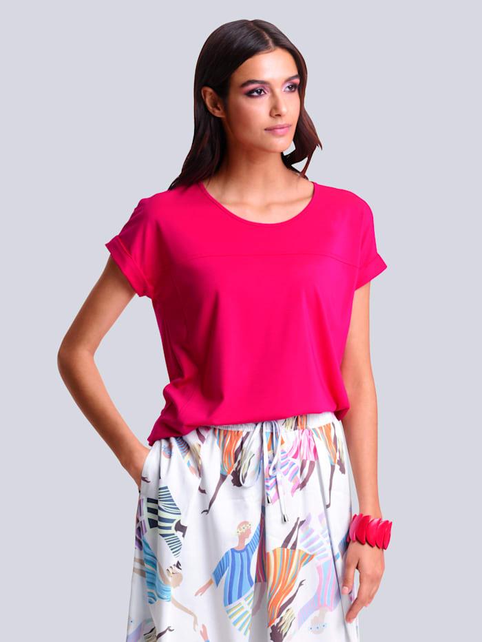 Alba Moda Shirt mit Teilungsnähten im Vorderteil, Pink