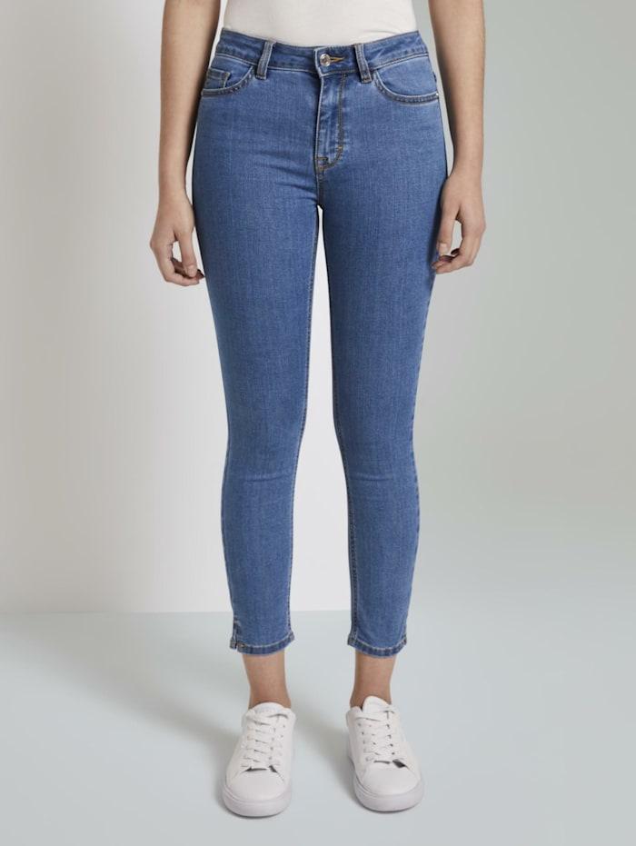 Tom Tailor mine to five Kate Skinny Jeans mit kurzen Seitenschlitzen, Clean Mid Stone Blue Denim