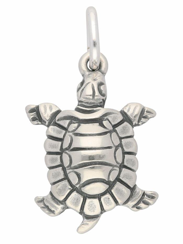 1001 Diamonds Damen Silberschmuck 925 Silber Anhänger Schildkröte, silber