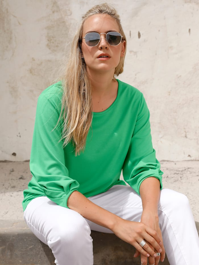 MIAMODA Shirt aus formstabilem Jersey, Grün