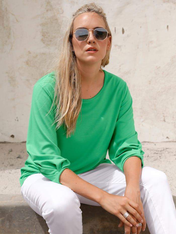 MIAMODA T-shirt en jersey indéformable, Vert