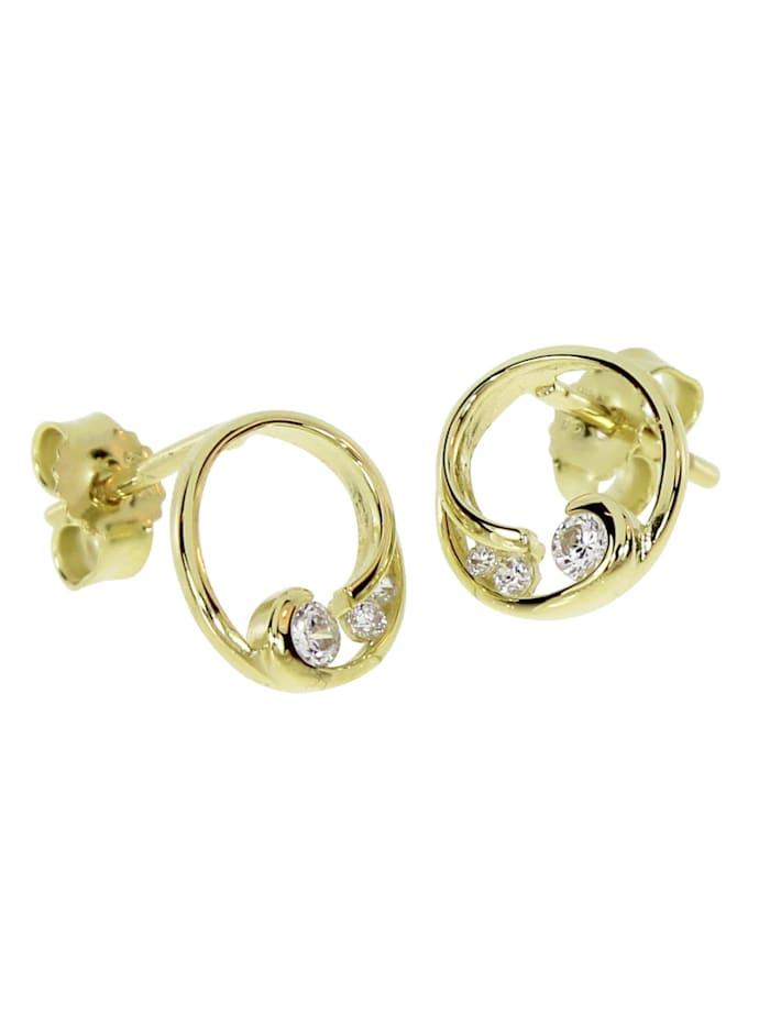 OSTSEE-SCHMUCK Ohrstecker - Maila - Gold 333/000 - Zirkonia, gold