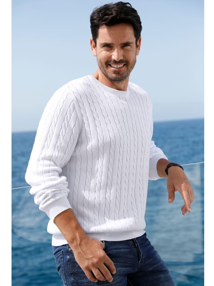 BABISTA Pullover aus reiner Baumwolle, Weiß