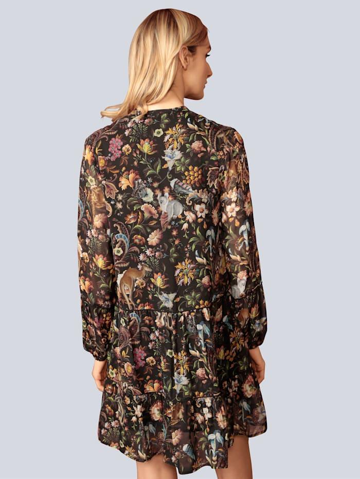 Kleid aus leichtem Chiffon