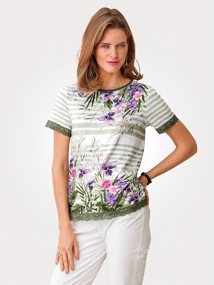 MONA Shirt, Oliv/Ecru
