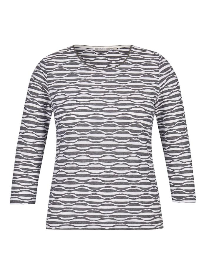 Rabe Shirt mit ¾-Ärmeln und Wellenstruktur, GRANIT