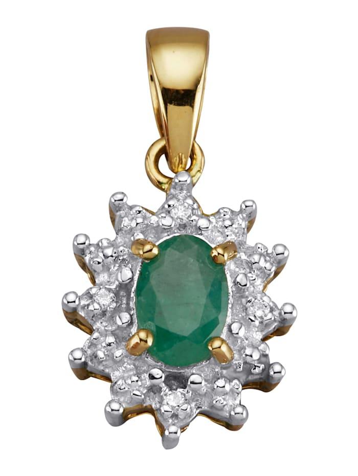 Amara Pierres colorées Pendentif avec émeraude, Vert