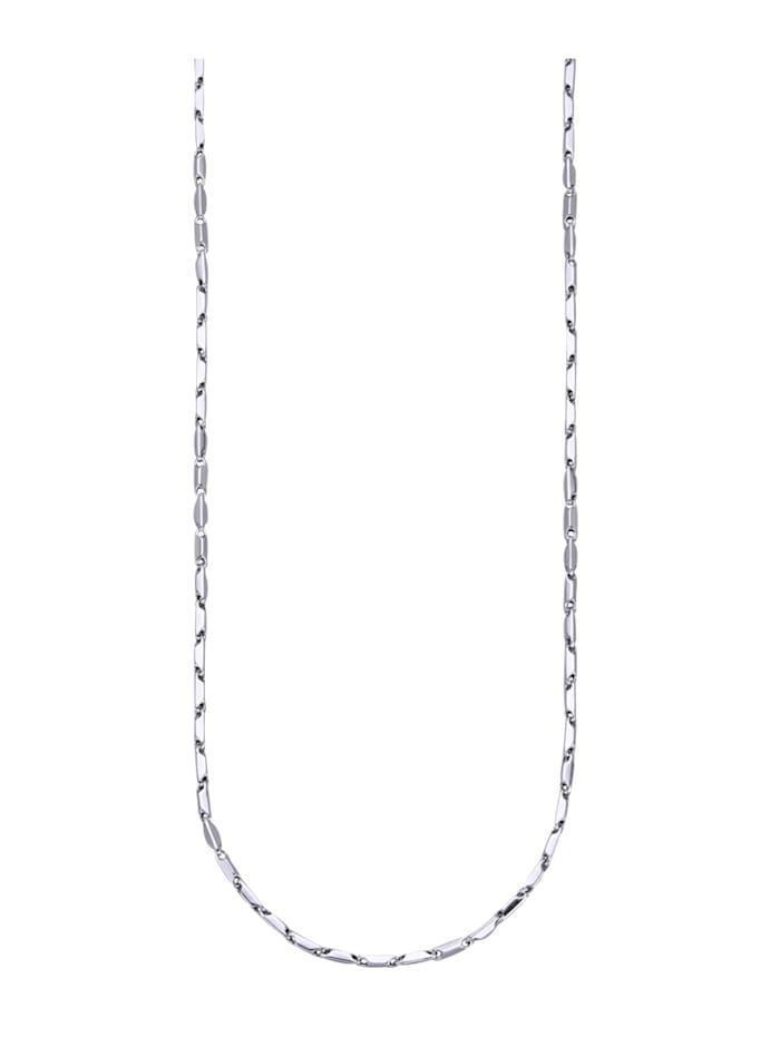 Diemer Gold Halskette in Weißgold 585, Silberfarben