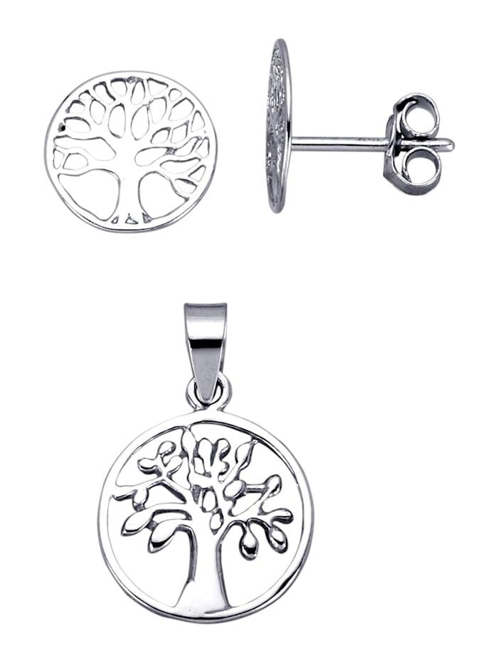 AMY VERMONT 2-delige sieradenset van echt zilver, Zilverkleur