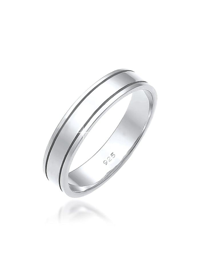Elli Premium Ring Paarring Bandring Trauring Hochzeit 925 Silber, Silber