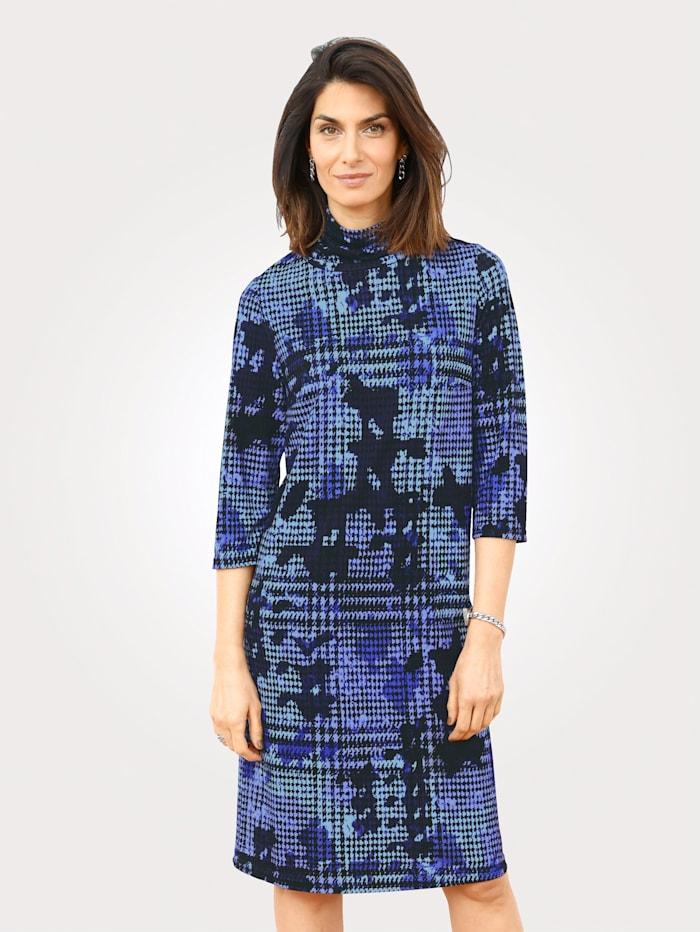 Kleid mit Hahnetrittmuster