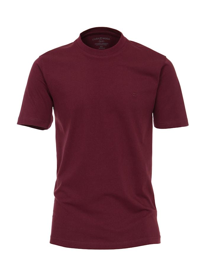 CASAMODA T-Shirt uni, Bordeauxrot