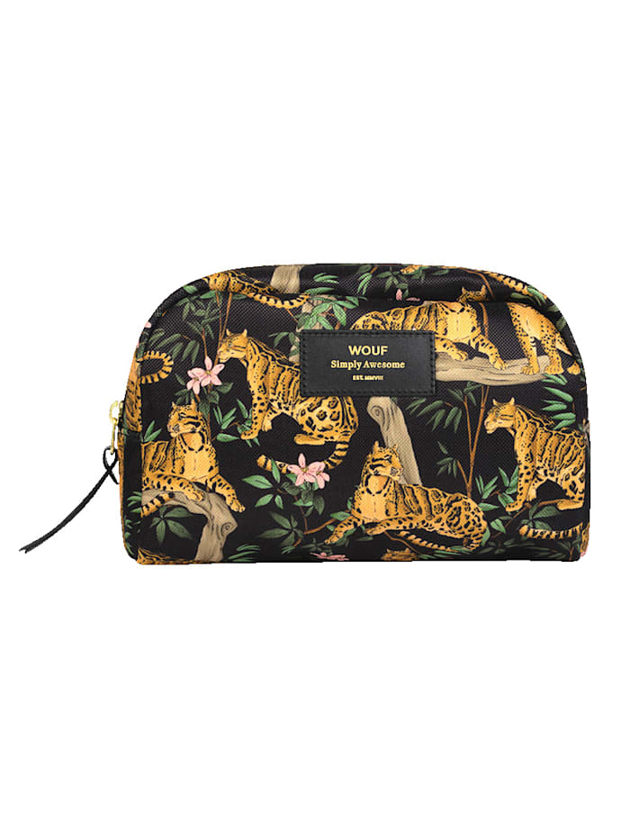 Wouf Beautytasche, Tiger, Schwarz