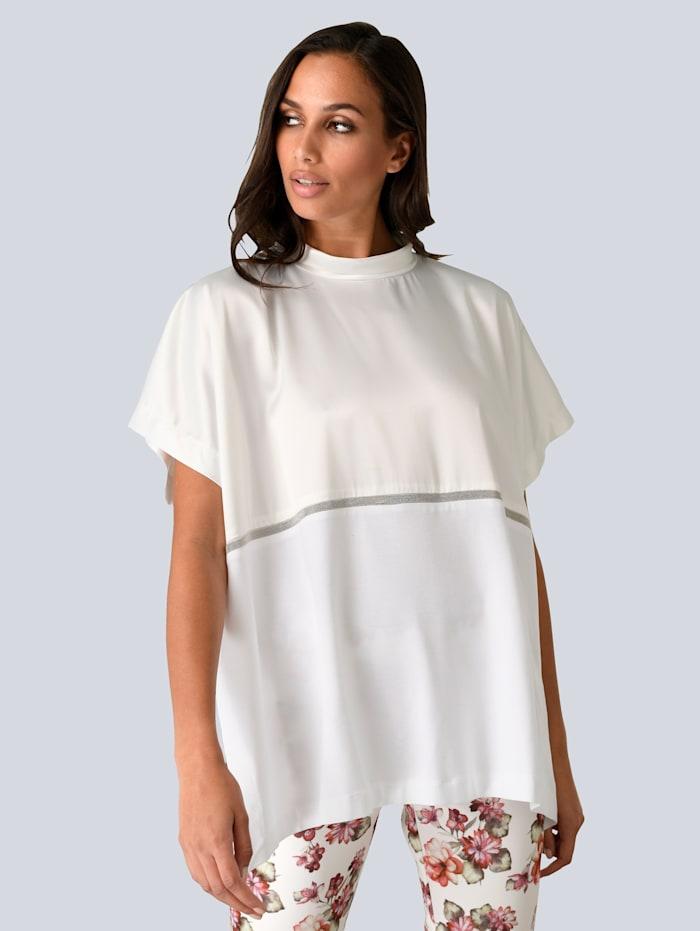 Alba Moda Shirt mit Schmuckband, Off-white