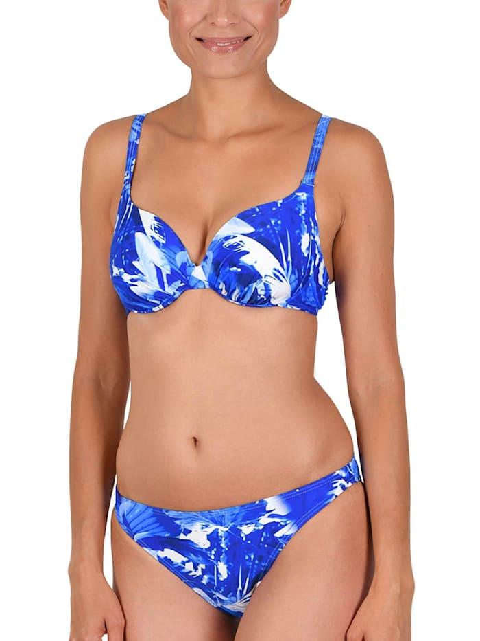 Naturana Schalen Bügel Bikini, kobaltblau-bleu-weiß