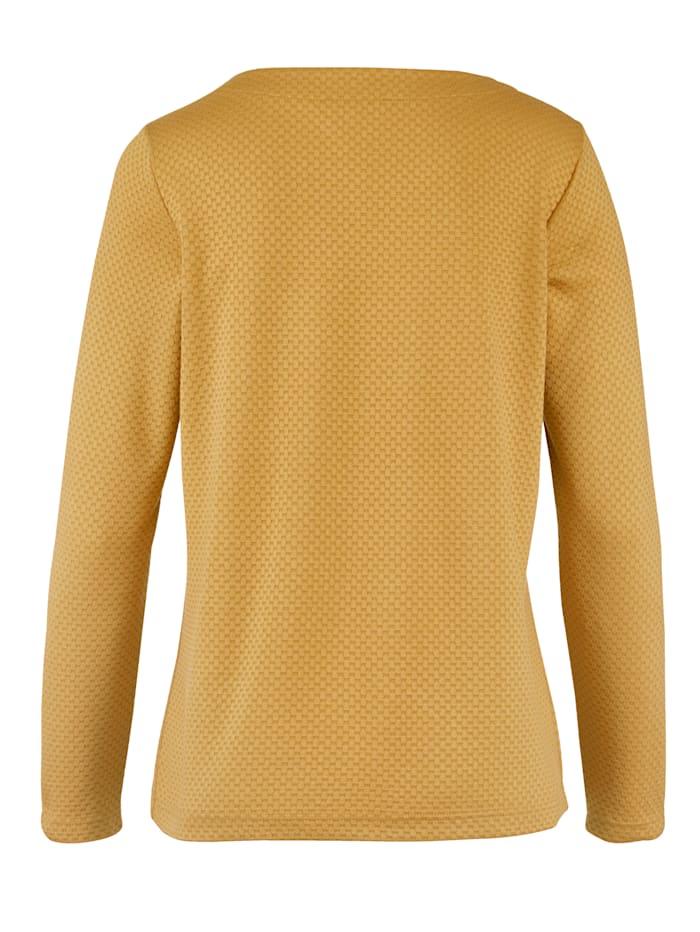 Shirt in strukturierter Jaquard-Qualität