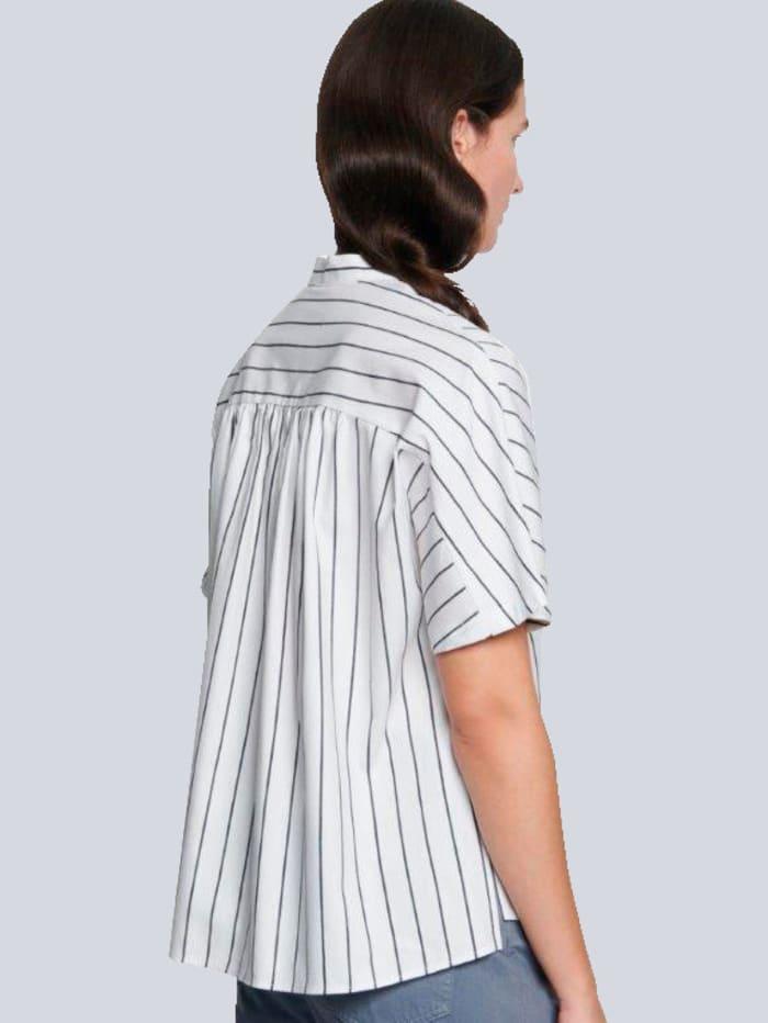 Bluse aus Leinenmischung