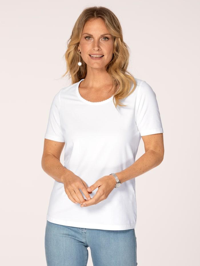 MONA T-shirt en coton pima, Blanc