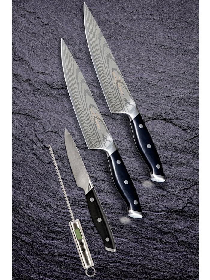4tlg. Rasiermesserscharfes Premium-Messer-Set 'Trusted Butcher'