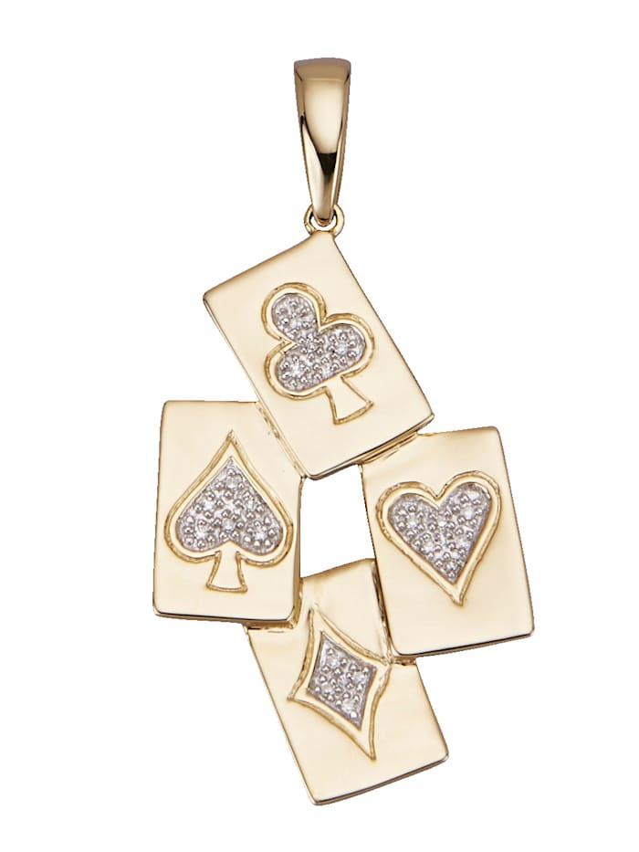 Amara Diamants Pendentif avec diamants, Coloris or jaune