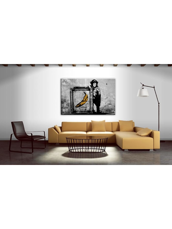 Wandbild Inspired by Banksy - black and white