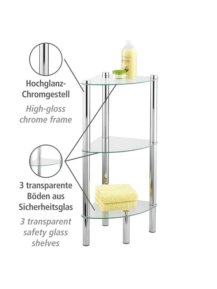 Eckregal Yago mit 3 Glasablagen