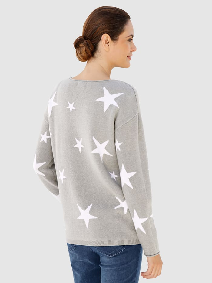 Pull-over à motifs étoiles