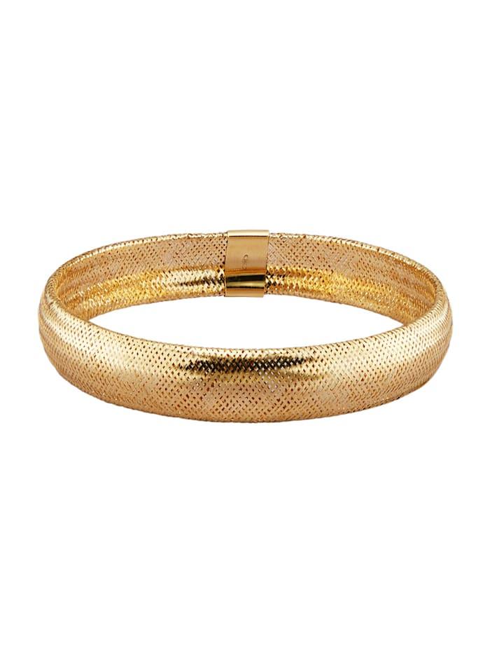 Bracelet mesh en or jaune 585, Coloris or jaune