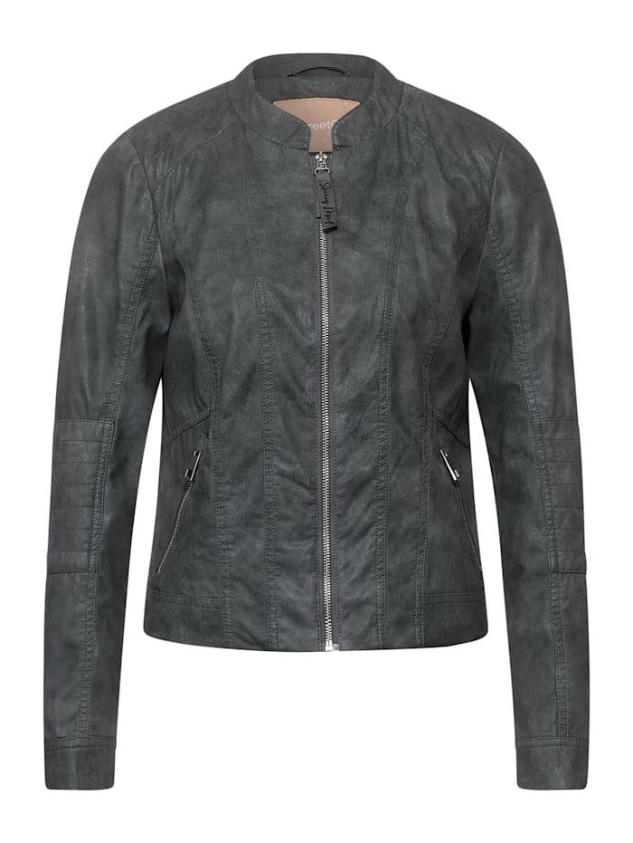 Street One Biker-Kunstlederjacke, light shaded grey