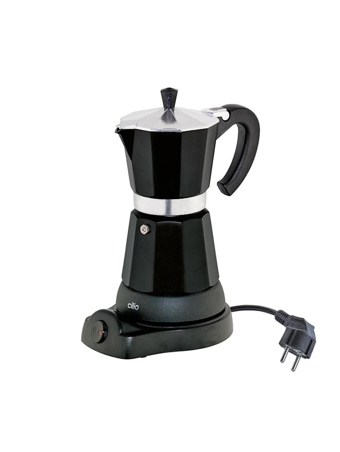 Cilio Elektrischer Espressokocher CLASSICO, Schwarz