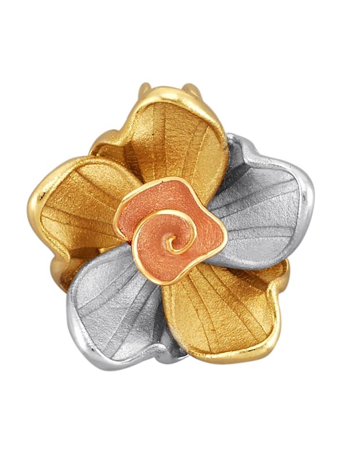 Amara Or Pendentif fleur Créoles en or 585, Multicolore
