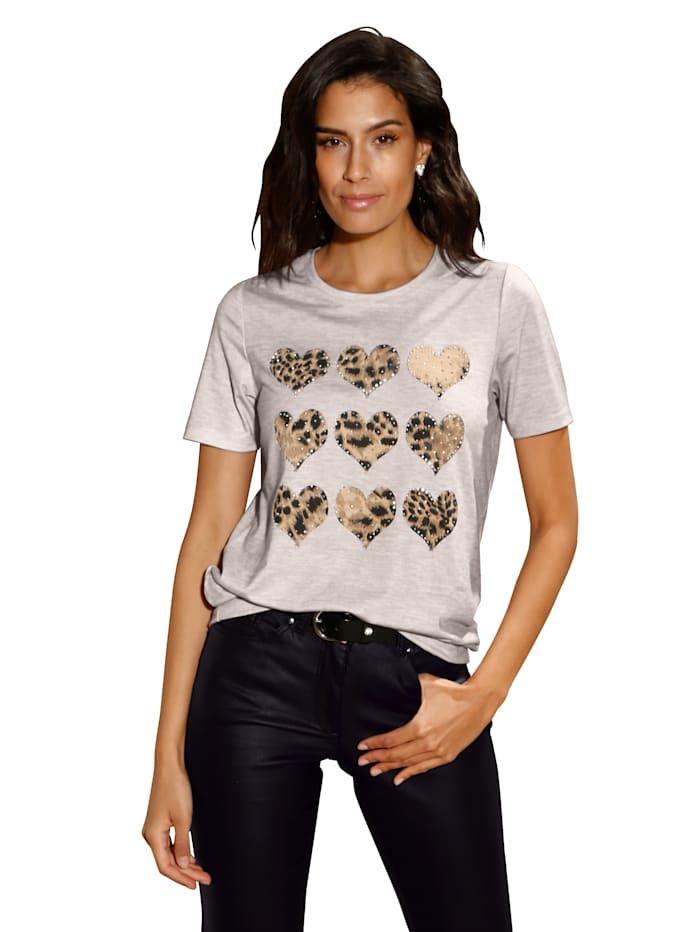 AMY VERMONT Shirt met print, Beige