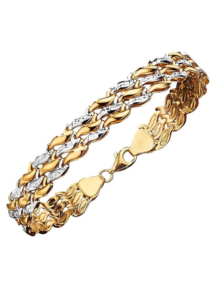 Diemer Gold Armband aus Gelb und Weißgold | Klingel