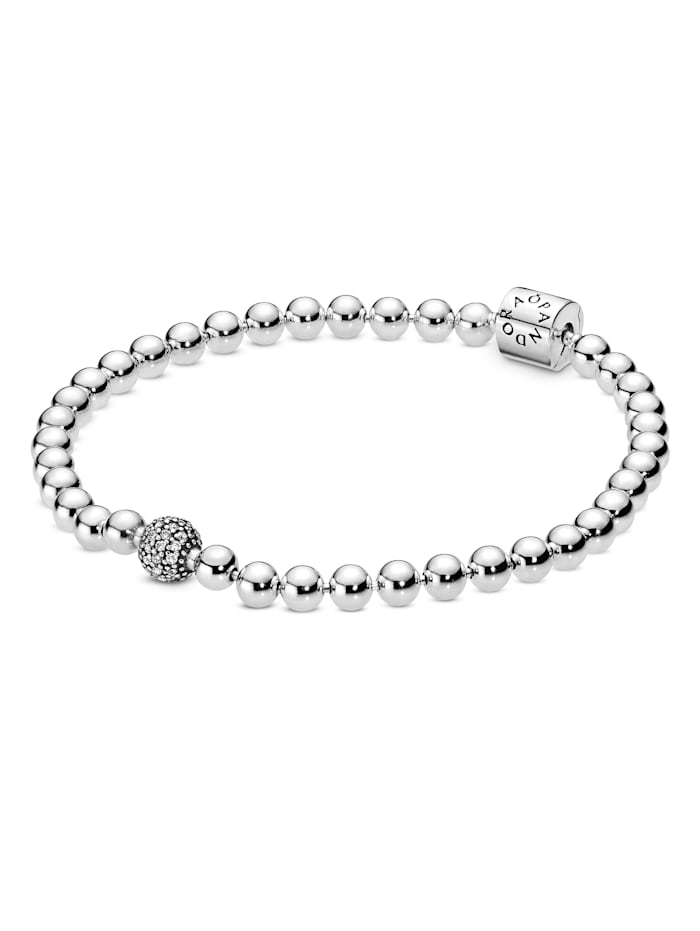 Pandora Armband - Kugel & Pavé - 598342CZ-21, Silberfarben