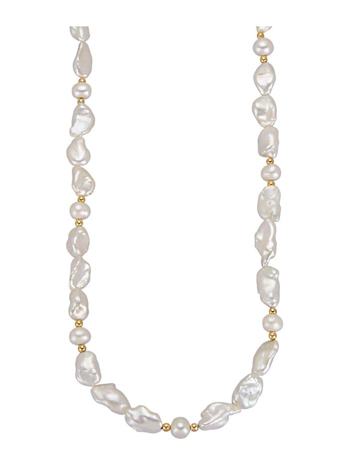 Amara Highlights Collier avec perles de culture d'eau douce, Blanc