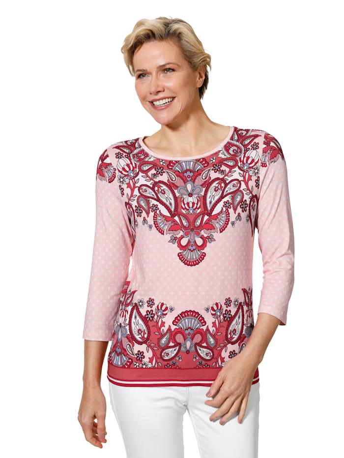 Shirt mit farbintensiven Paisley