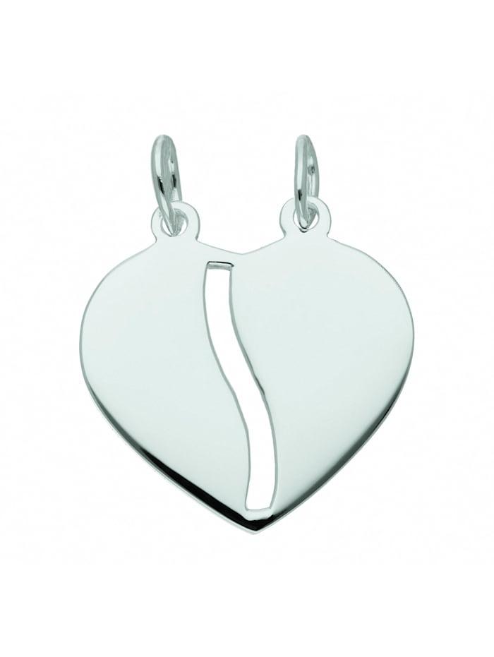1001 Diamonds Damen Silberschmuck 925 Silber Anhänger Partneranhänger, silber