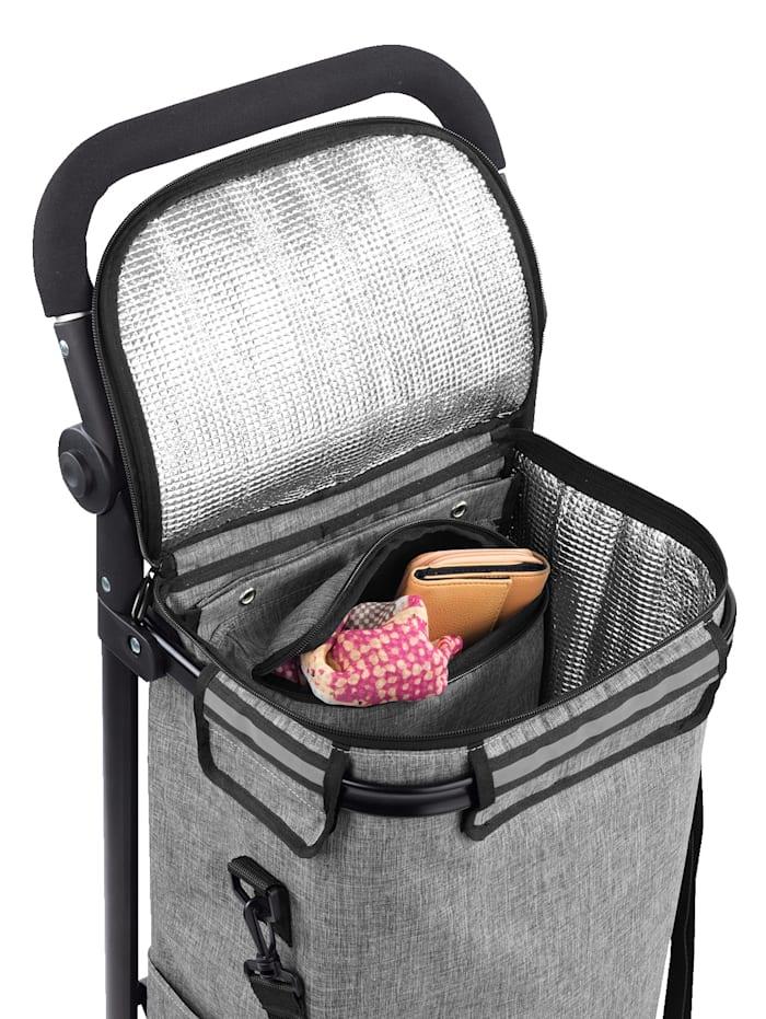 Einkaufstrolley 'Thermo & Comfort', integrierte Umhänge-Tasche