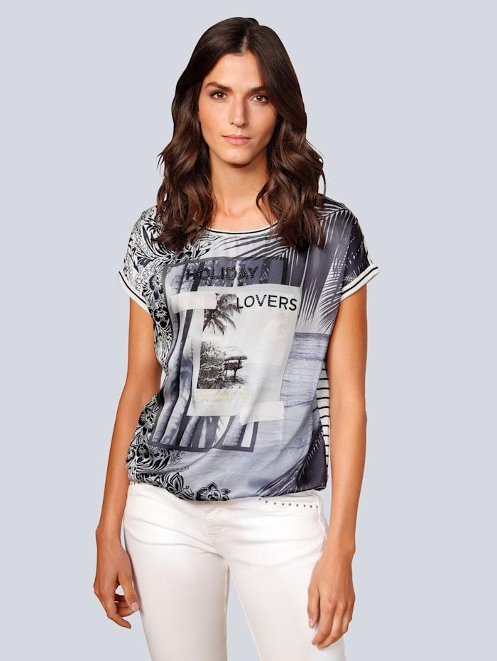 OUI T-Shirt mit tollem Motiv, Blau