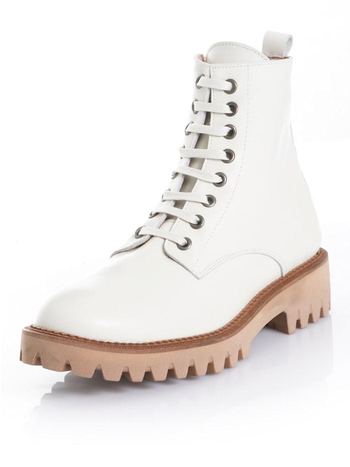 Alba Moda Boot met decoratieve veters, Crème