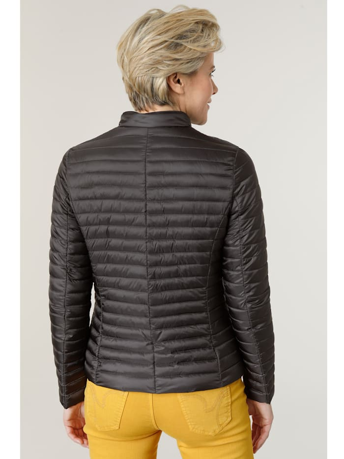 Quilted jacket with silver-tone beading