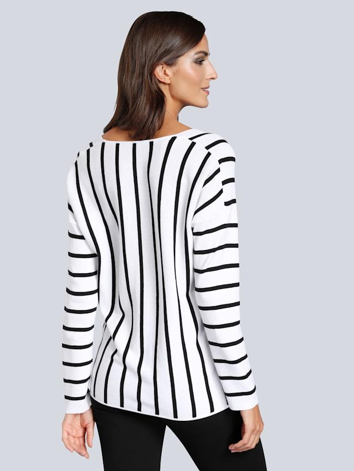 Pullover im raffinierten Streifendessin