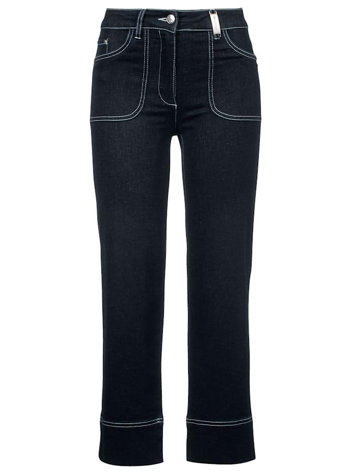 SPORTALM Jeans in modischer Culotte-Form, Nachtblau