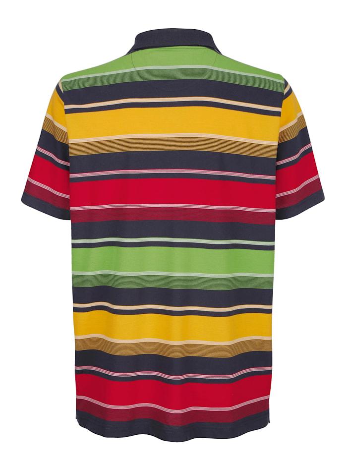 Poloshirt met ingebreid streeppatroon rondom