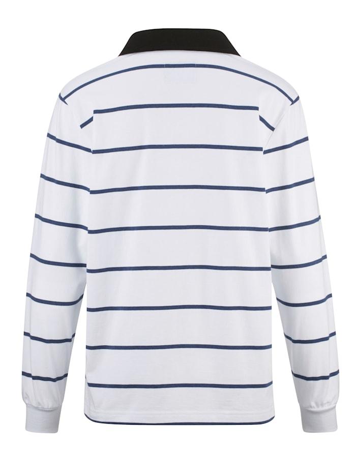 Sweatshirt med skjortkrage