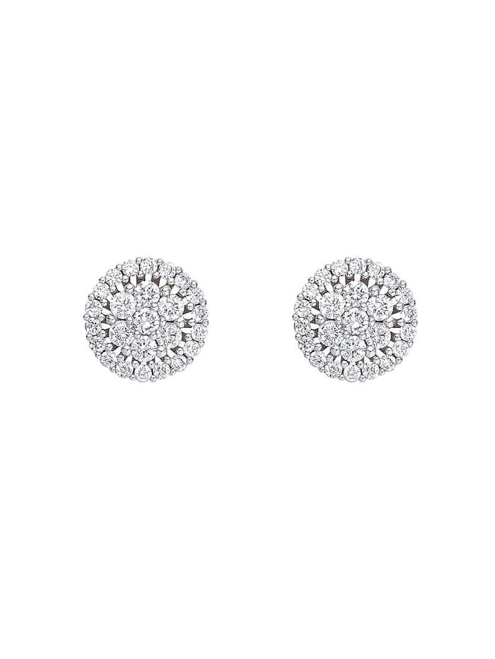 CHRIST Diamonds CHRIST Diamonds Damen-Ohrstecker 585er Weißgold 50 Brillanten, weißgold