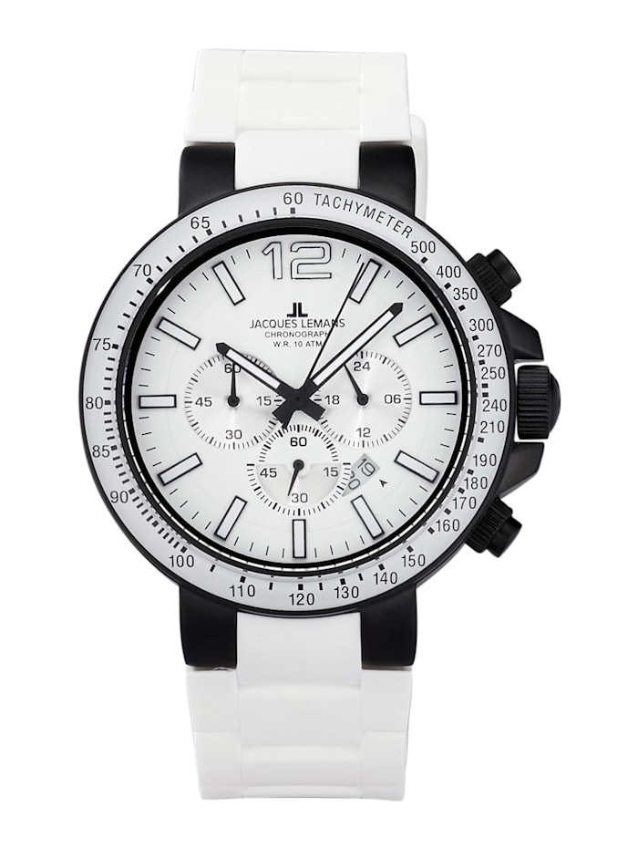 Jacques Lemans Herenchronograaf Serie: Milano, collectie: Sport 1-1696G, Wit